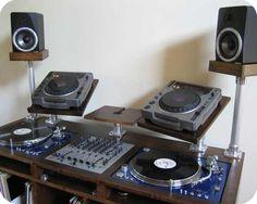 Dark wood DJ furniture