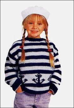 Child's Knitted Anchor Pullover