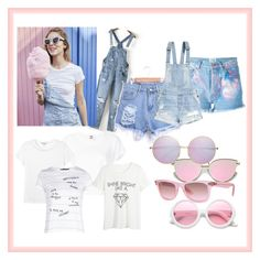 Cotton Candy by marock on Polyvore featuring polyvore, fashion, style, Boohoo, WithChic, RE/DONE, Monki, Forte Couture, ZeroUV, Ray-Ban, H&M and clothing