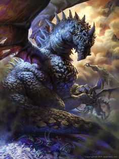 A dragon that attacks and EATS daemons. Artist: Mike Azevedo aka Pkmike - Title: sivan the devil eating dragon - Card: Unknown Dragon Images, Dragon Pictures, Dragon Pics, Magical Creatures, Fantasy Creatures, Dragon Medieval, Dragon Oriental, Dragon Illustration, Illustration Pictures