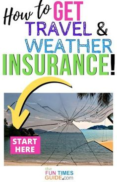 If you're afraid that your event or travel plans might get canceled due to the weather, you can buy weather insurance to protect you. Travel weather insurance protects both your event and your travel from delays and cancellations due to bad weather! (Includes rain insurance, snow insurance, temperature insurance, wind insurance, severe adverse weather and event cancellation insurance, as well as travel insurance and trip insurance. #travelinsurance #weatherinsurance