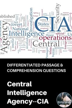 On January 22, 1946 the Central Intelligence Group, predecessor of the Central Intelligence Agency was formed. Read about the history of the CIA. Use the questions in standardized test format to check comprehension and help students prepare for high-stakes testing. Middle School History, Middle School Grades, High School, High Stakes Testing, Standardized Test, Central Intelligence Agency, January 22, Reading Passages, Differentiation