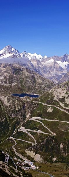 Scenic View of the switchbacks of the Grimsel Pass, Switzerland | 23 Roads you Have to Drive in Your Lifetime