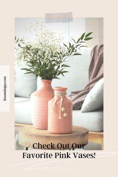 Check out our favorite gorgeous pink vases/planter. Rose Gold Vase, Rose Gold Decor, Gold Vases, Gold Planter, Glass Planter, Ceramic Planters, Flower Planters, Hanging Planters, Flower Vases