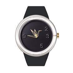 0 DEGREE Watch Paper Crane Black by odm