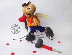 Valentine Doll knitting pattern knitted round. St. by simplytoys13