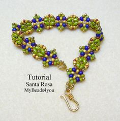 Beaded Bracelet Tutorial, Instructions, DIY by:-My Beads 4 You