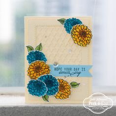 layered stamped card with peek-a-boo designs stamps
