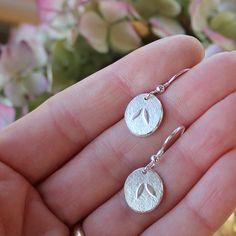 Petal Earrings Silver Earrings Sterling by AngelaWrightDesigns