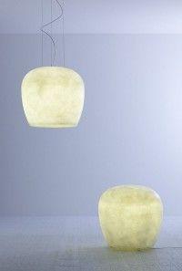 Hand Made; Eco friendly lamps made of fiber glass - Design by Sandro Santantonio Design