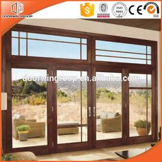 Hot Selling Italian Style Wood Doors Double Hinged Glass Doors
