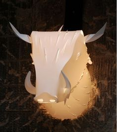 paper cut bull light