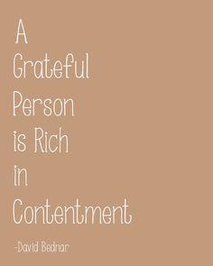 A Grateful Person