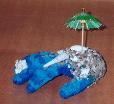 Plaster Hands One Hand Sculpture, Sculptures, Plaster Hands, High School Art, Surrealism, Ms, Christmas Ornaments, Holiday Decor, Paper