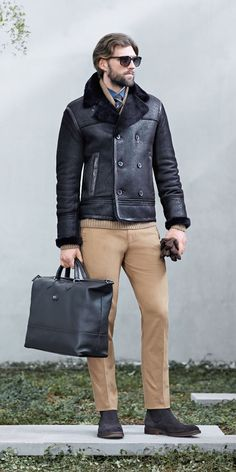 Love the jacket by Hugo Boss Fall/Winter 2014