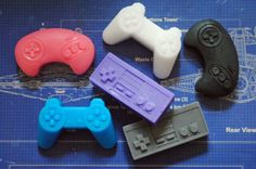 6 x Mini Computer Controller Soaps  Playstation NES by NerdySoap