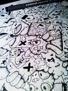 Os incríveis Doodles de Reda El Mraki - Muitas vezes basta uma folha de papel e uma caneta para dar asas à criatividade em forma de belas ilustrações, feitas despretensiosamente, mais con...