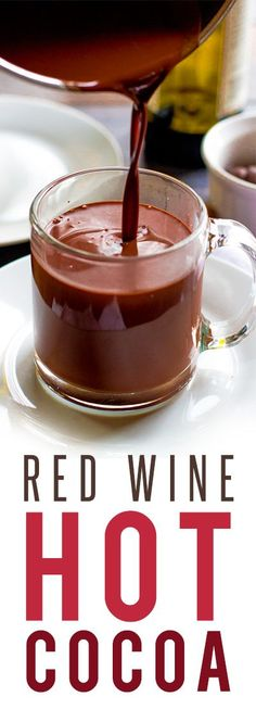 Red Wine Hot Chocolate is rich, chocolatey, and gloriously boozy. It's the perfect snow day treat for adults!