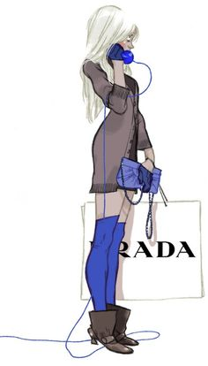 """prada"" by Annette Marnat ❥