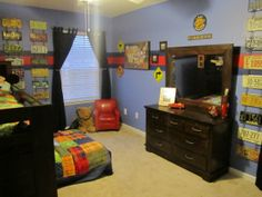 Planes, Trains, and Automobiles, This is my sons big boy room. He loves trucks, planes, and motorcycles so I decided to just go with everyth...