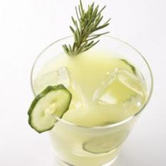 On a beautiful summer day nothing will taste more refreshing than a tall glass of this Rosemary-Infused Cucumber Lemonade. @EatingWell