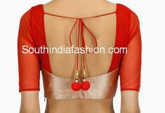 Simple and Stylish Blouse ~ Celebrity Sarees, Designer Sarees, Bridal Sarees, Latest Blouse Designs 2014