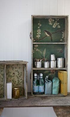 Wallpapered drawer ***