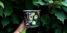 Bear illustration enamel mug, Traveler gift, Firefly mug, Campfire wanderlust cup, Mountain magic enamel mug, Camping celestial night sky, etsy shop, etsy finds, enamel mug, bear mug, firefly cup, campfire cup, camping accessory, handpainted unique mug, handmade gifts, best gift ideas, gift for her, gift for him, vintage look gift, gift for grandma Hand Painted Mugs, Nature Illustration, Personalized Coffee Mugs, Camping Accessories, Moon Art, Grandma Gifts, Travel Gifts, Paper Gifts, Pet Portraits