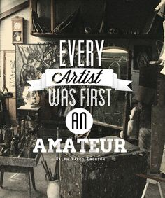 Typography with Imagery {quote by Ralph Waldo Emerson on black & white photography} // ChaoticRoad