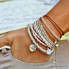 neutral bracelets for her, Neutral stack bracelets… Boho Jewelry, Jewelry Box, Silver Jewelry, Jewelry Accessories, Fashion Accessories, Fashion Jewelry, Jewelry Making, Jewelry Ideas, Fine Jewelry