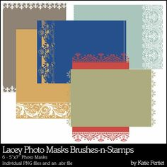 Lacey Photo Masks Brushes and Stamps