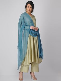 Buy Blue Chiffon Dupatta Dupattas Woven An Elegant Affair Timeless classics for the woman who values simple elegance Online at Jaypore.com