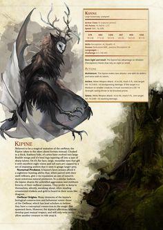 DnD 5e Homebrew — Flying Owlbear (Kipine) by tr1lobyte
