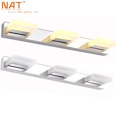 Find More Wall Lamps Information about Hot Sell ECOBRT 9W LED bathroom mirror lighting,Cool white/ warm white,stainless steel modern Acrylic mirror lights 3 lights,High Quality light box lighting,China light up glow sticks Suppliers, Cheap light monkey lights from NAT LIGHTING on Aliexpress.com