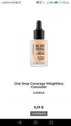One Drop, Concealer, Perfume Bottles, Make Up, Products, Perfume Bottle, Makeup, Beauty Makeup, Bronzer Makeup