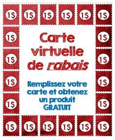 Carte virtuelle de RABAIS Promotion termine le 15 juillet.