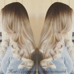 #BeautyWorks #HairExtensionsBournemouth #Balayage #Blonde #HairExtensions #MicroWeft #BigCurls