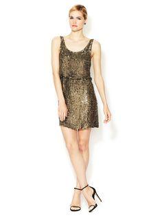 Gabby Sequined Silk Tank Dress by Alice + Olivia