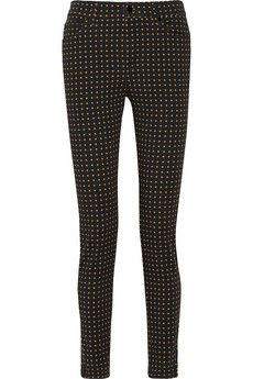 McQ Alexander McQueen Printed high-rise skinny jeans | THE OUTNET