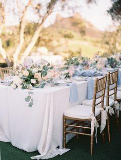 A Summer Wedding Awash in Lavender + Blush