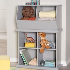 Clic Playtime Hopscotch Stackable Toy Storage Gray