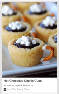 Yummy Hot Chocolate Cookie Cups! #tipit #Food #Drink #Trusper #Tip
