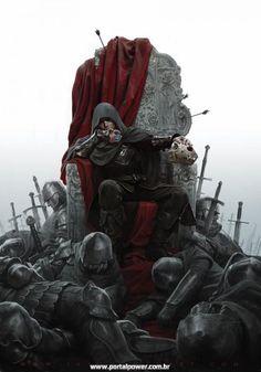 Assassins Creed : On A Throne - Jason Chan Dark Fantasy Art, Fantasy Artwork, Fantasy World, Final Fantasy, Arte Assassins Creed, Jason Chan, Medieval Fantasy, Elves Fantasy, Fantasy Gifts