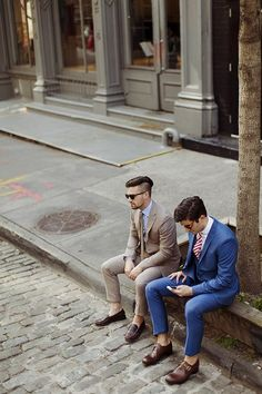 Ranked Number 1 Tailored Suit - Shop Chicerman's dapper collection of Men's Suits, Jackets, Slacks, Shirts, and Ties. Custom clothing for the modern man. Urban Street Fashion, Fashion Moda, Mens Fashion, Fashion Suits, Looks Style, My Style, Hair Style, Style Urban, Style Masculin
