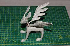 Como hacer un alebrije burro con alas paso 12