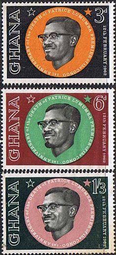 Ghana 1962 Lumumba Set Fine Mint SG 286 8 Scott 118 20 Other Ghana Stamps HERE