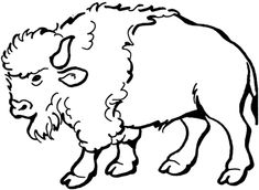 Bison Coloriage