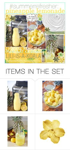 """""""☼; summer refresher: pineapple lemonade"""" by ocean-clique-xo ❤ liked on Polyvore featuring art and oceanbabelilixo"""