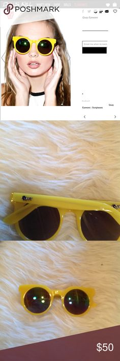 e2a9661aff3e Shop Women s Quay Australia Yellow size OS Sunglasses at a discounted price  at Poshmark. Description  New no tag awesome color for upcoming Spring!