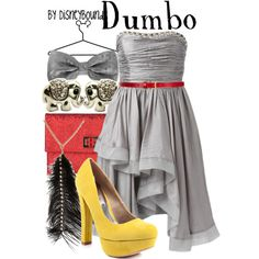 """Dumbo"" by lalakay on Polyvore #disney  This is precious. I love this dress."